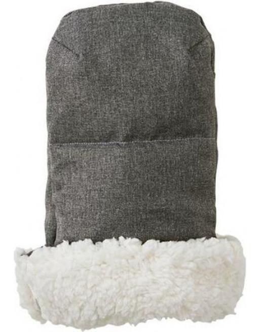 Knusse handverwarmers / handschoenen 35 x 32 x 4 cm - Donkergrijs