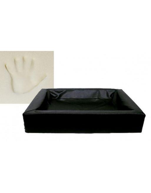 Grote ortho hondenmand - L - 80 x 100 x 15 cm - Zwart