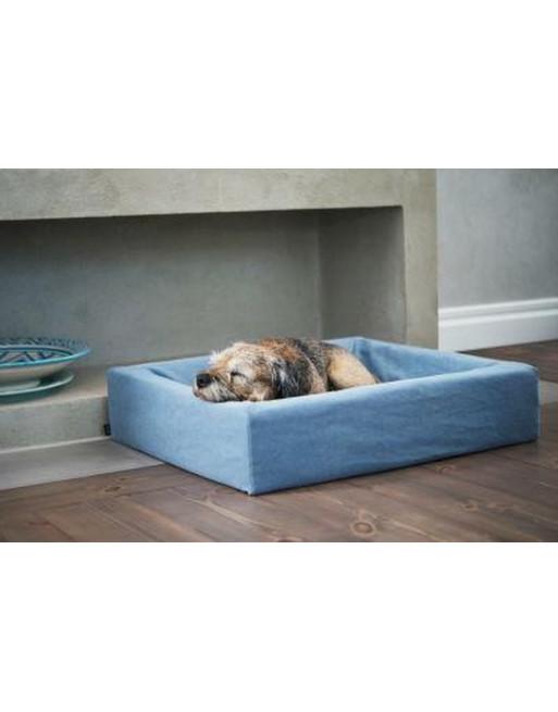 Katoenen overtrek hondenmand 80 x 100 x 15 cm - blauw