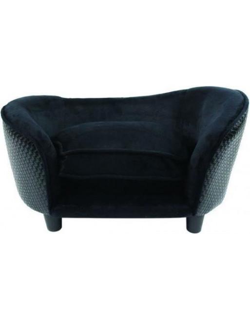 Sierlijke hondenmand/sofa uit pluche - 68 x 41 x 38 cm - Zwart