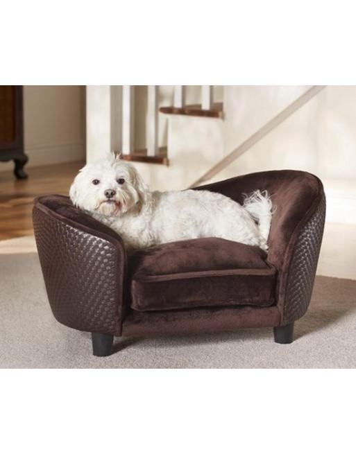 Sierlijke hondenmand/sofa uit pluche - 68 x 41 x 38 cm - Bruin