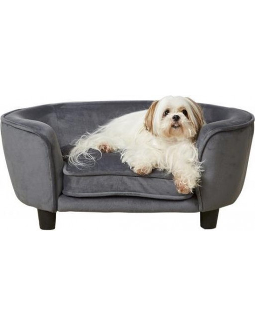 Royale hondenmand/sofa- fluweel - coco - 67,5 x 40.5 x 30.5 cm - Grijs