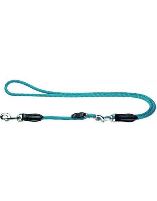 Nylon hondenriem 260 cm x 10 mm - lichtblauw