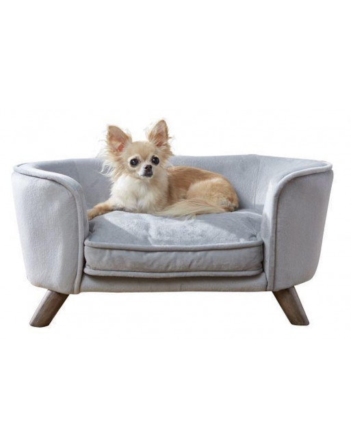 Royale hondenmand/sofa- fluweel - Romy - 67,5 x 40.5 x 30.5 cm - Grijs
