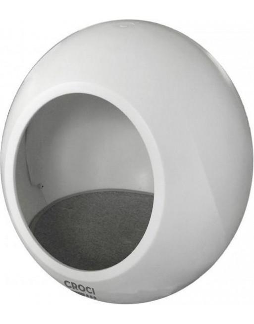 Moderne, hightech kattenmand - domus - 43 x 43 x 45,5 cm - wit