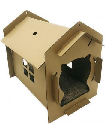 Kattenhuis met krabvloer -...