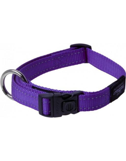 Stevige halsband - Fanbelt - 20 mm x 34-56 cm - Paars