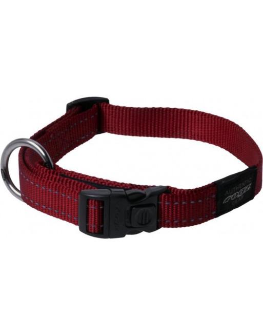 Halsbanden voor honden - lumberjack - 25 mm x 43-73 cm - rood