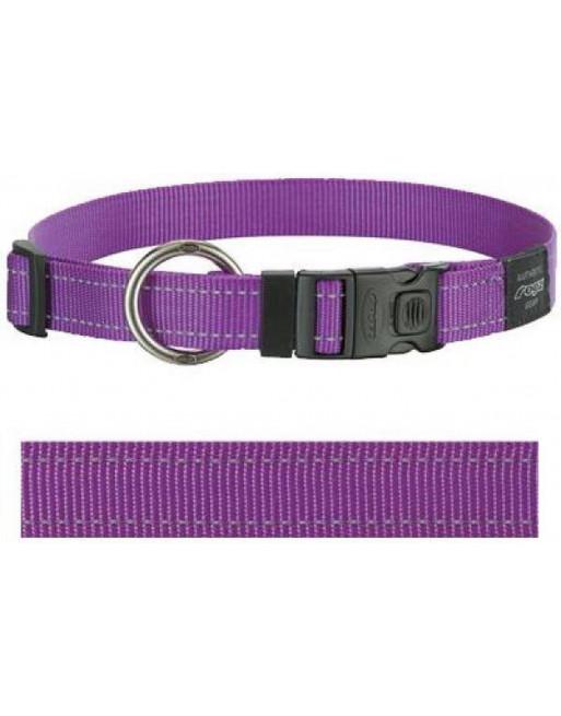 Halsbanden voor honden - lumberjack - 25 mm x 43-73 cm - paars