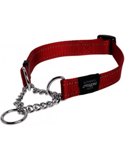 Hondenhalsband - choker - 20 mm x 34-56 cm - Rood