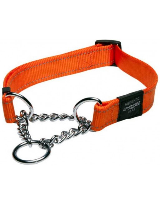 Choker voor honden - lumberjack - 25 mm x 43-73 cm - oranje
