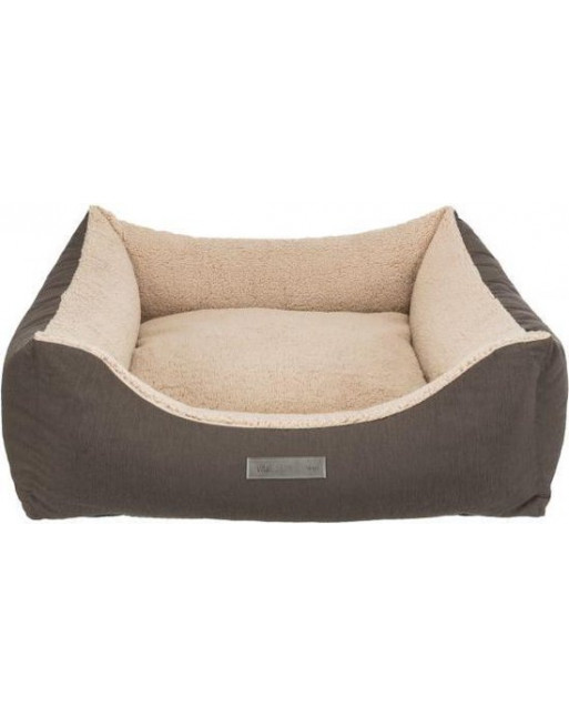 Comfortabele hondenmand - 70 x 60 cm - Beige/donkerbruin
