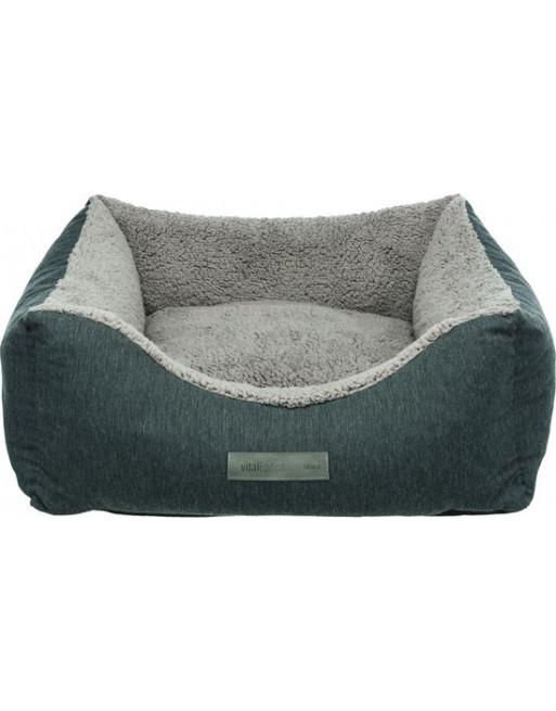 Comfortabele hondenmand - 70 x 60 cm - Lichtgrijs/donkergrijs
