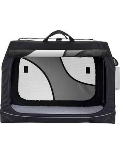 Duurzame reismand - 76 x 48 x 51 cm - Zwart/grijs