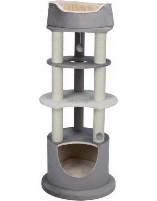 Multifunctionele krabpaal - Lavinia - 58 x 58 x 138 cm - Crème