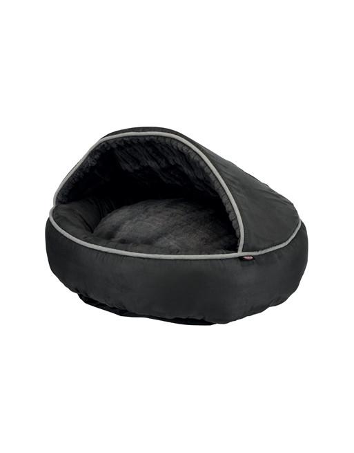 Relaxerende kattenmand - donut vorm - 70 cm - Zwart
