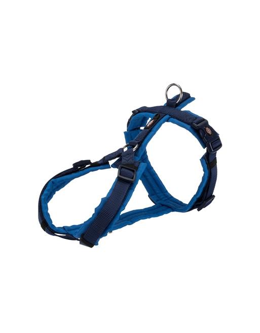 Premium hondenharnas - Anti-trek - 62-74 x 2.5 cm - Indigo/Donkerblauw