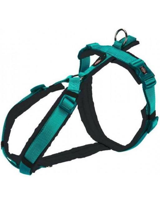 Premium hondenharnas - Anti-trek - 80-97 x 2.5 cm - Oceaan blauw/Grijs