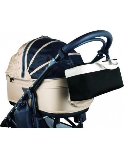 Accessoire handtas voor airbuggy/hondenbuggy - 38 x 12 x 17 cm - Zwart
