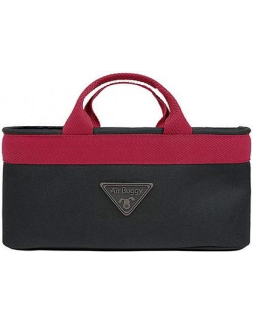 Accessoire handtas voor airbuggy/hondenbuggy - 38 x 12 x 17 cm - Rood