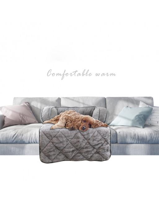 Comfortabele mand - zetelbescherming met zachte kussens voor uw hond of kat - grijs