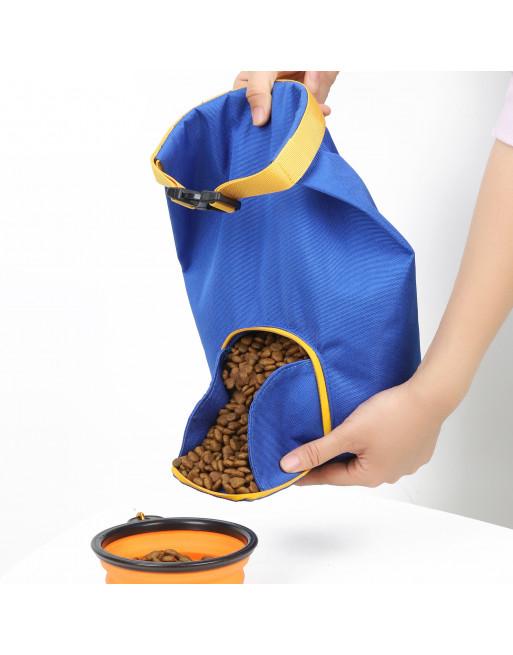 Hondenvoer opslag container - opvouwbare tas hondentraining - Blauw