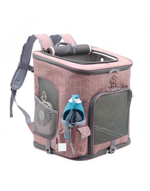 Rugzak voor huisdier - Grote reistas - Roze