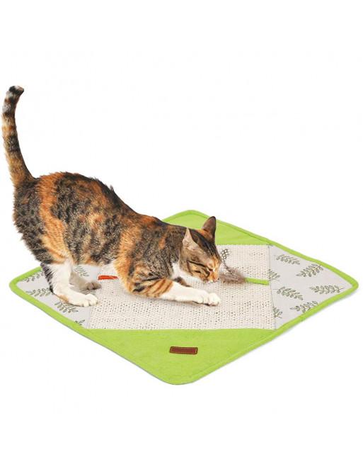 Krabmat voor katten - krabpaal toebehoren - speeltje voor katten - GROEN