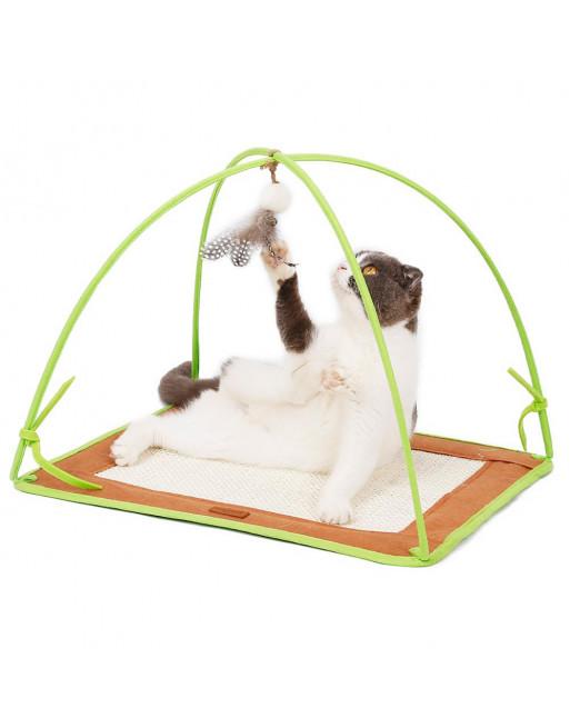 Speelstation voor katten - speelmat- krabmat - GROEN