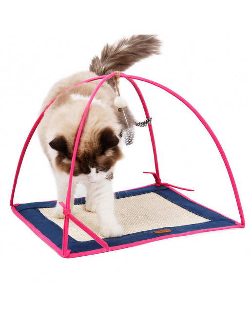 Speelstation voor katten - speelmat- krabmat - ROZE