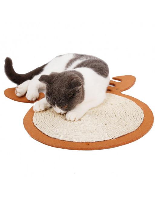 Krabmat voor katten in een speelse vormgeving - BRUIN