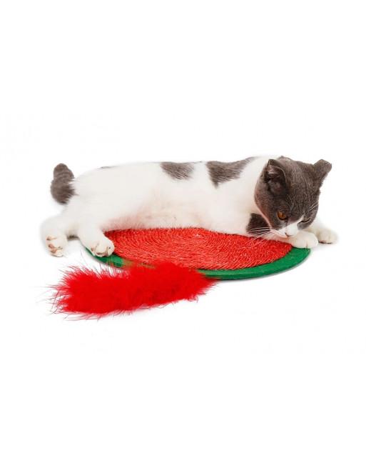 Krabmat voor katten in een speelse vormgeving - GROEN