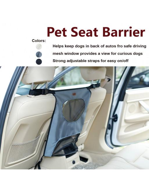 Autozetelbescherming - tussenschot voor honden - GRIJS
