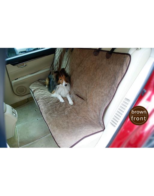 Dubbelzijdige beschermhoes hond auto voor winter en zomer – BRUIN