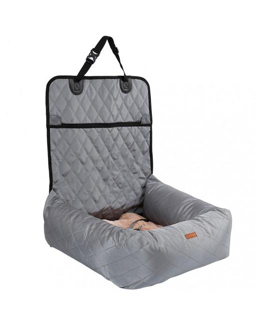 Deluxe 2 in 1 autostoel en hondenbed - GRIJS